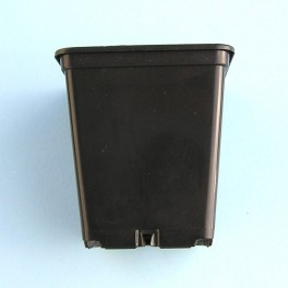 Květináč černý hranatý 7x7x8 cm